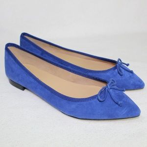 Talbots Sapphire Blue Pointed Toe Flats